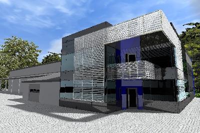 II etap budowy kompleksu biurowego i hali produkcyjno-magazynowej