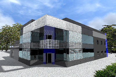 III etap budowy kompleksu biurowego i hali produkcyjno-magazynowej